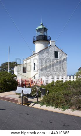 Old Point Loma Lighthouse in Cabrillo, USA, It's well mantien lighthouse