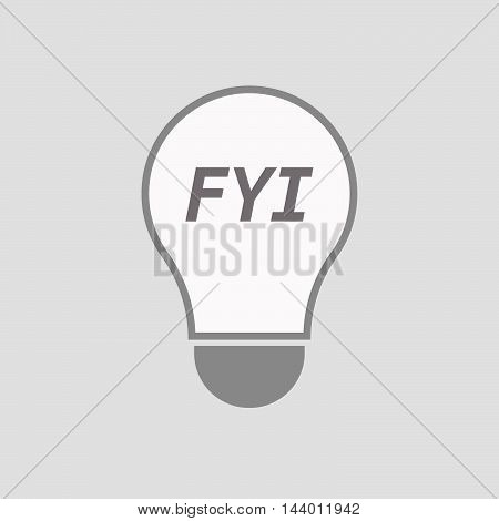 Isolated Line Art Light Bulb Icon With    The Text Fyi