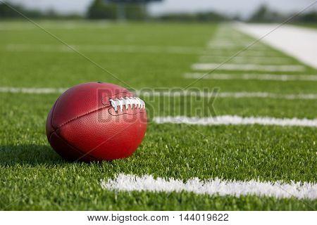 Pro American Football on the Field. Football season