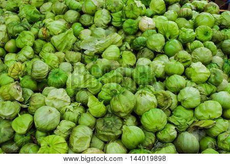 Organic Tomatillo Background