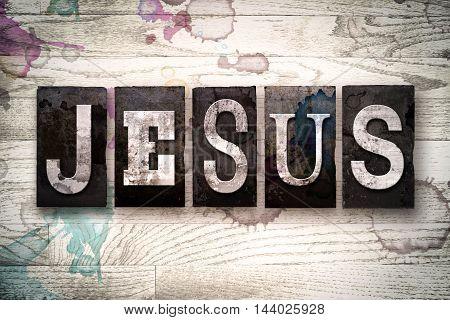 Jesus Concept Metal Letterpress Type
