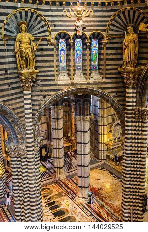 Interior View Of The Siena Cathedral