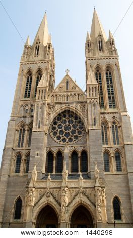 The Front Of Truro Cathedral Cornwall Uk poster