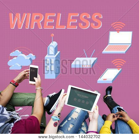 Wireless Connection Internet Modem Network Concept