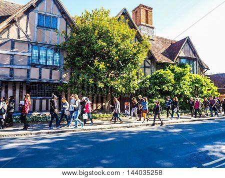Hall Croft In Stratford Upon Avon (hdr)