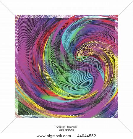 Vector Random Meaningless Abstract Blending of Colorful Swirl Background Illustration