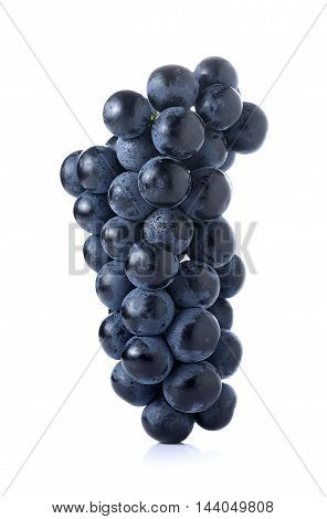 Black seedless grapes isolated on white background