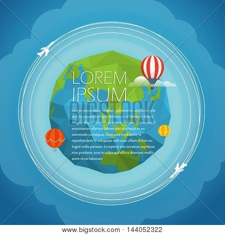 Earth vector illustration. Template for a text