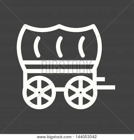 Cart, horse, shape icon vector image. Can also be used for wild west. Suitable for mobile apps, web apps and print media.