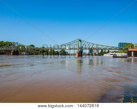 Iron Bridge In Frankfurt Hdr