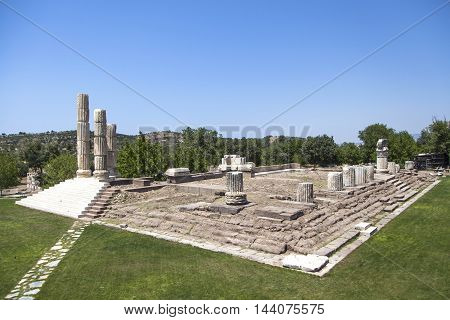 Located near the ruins of the temple of Apollo Smintheus Assos in Turkey.