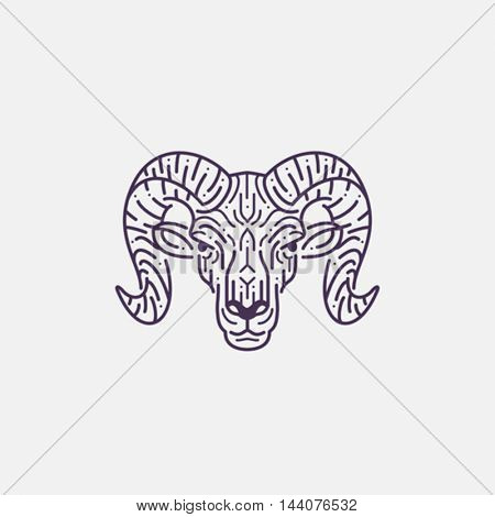 Ram, goat head illustration