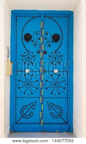 Blue Door With Ornament From Sidi Bou Said