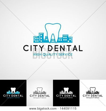 Dental logo template. Teethcare icon set. dentist clinic insignia, doctor practice sign, orthodontist illustration concept for stationary, tooth branding t-shirts picture, business card graphic, medical products or medicine poster image