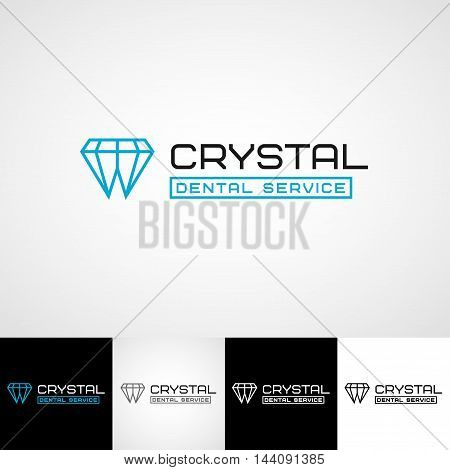 Creative dental logo template. Teethcare icon set. dentist clinic insignia, dentist practice sign, oral hygienist concept for stationary, tooth branding t-shirts picture, medical products or medicine poster image.