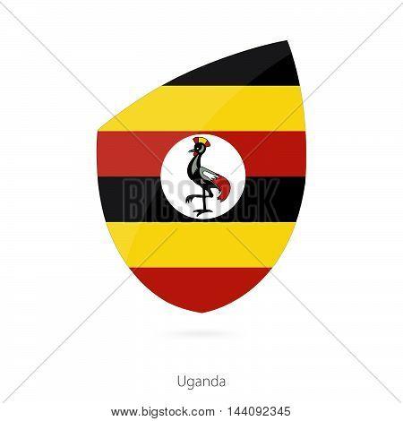 Flag Of Uganda. Uganda Rugby Flag.