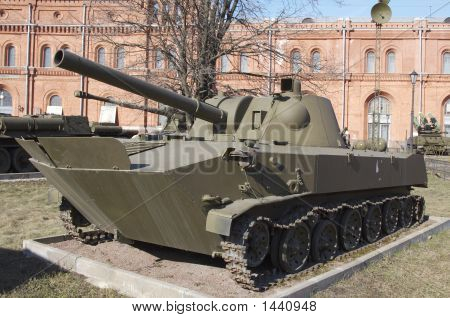 Russia Saint Petersburg Museum of artilltry The floating tank poster