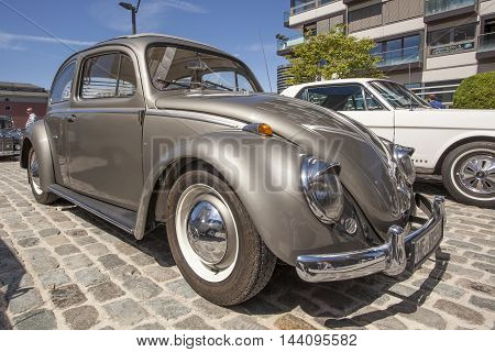 COLOGNE GERMANY - AUG 7 2016: Modified Volkswagen Beetle at an exhibition in the city of Cologne Germany