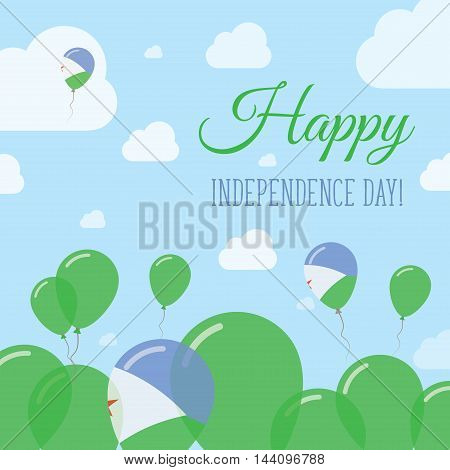 Djibouti Independence Day Flat Patriotic Design. Djibouti Flag Balloons. Happy National Day Vector C