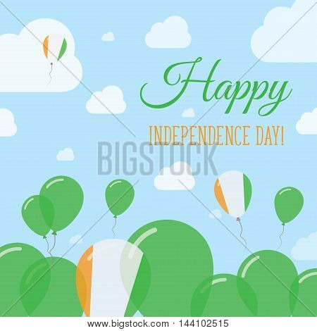 Cote D'ivoire Independence Day Flat Patriotic Design. Ivorian Flag Balloons. Happy National Day Vect