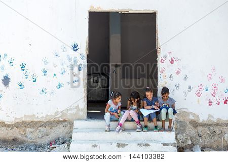 Refugee Camp Of Lagadikia ,greece