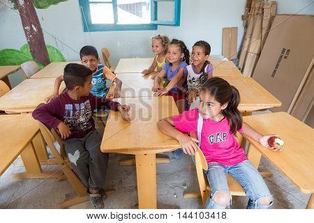 Refugee Camp Of Lagadikia