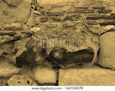 Flint Wall Sepia