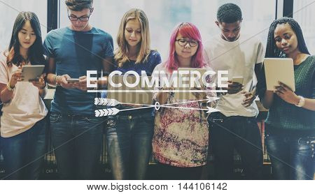 E-business E-commerce Global Business Concept