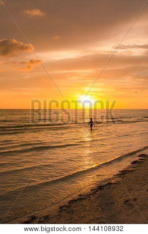 Beautiful image of a stunning beach sunset
