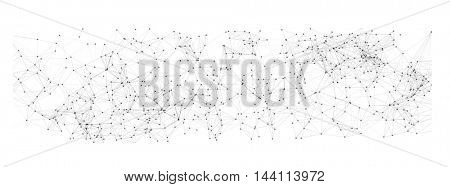 Abstract Black Mesh on White Background | EPS10 Vector Design