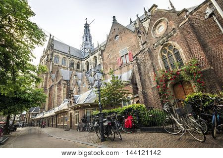 The Saint Bavo Church In Haarlem, The Netherlands