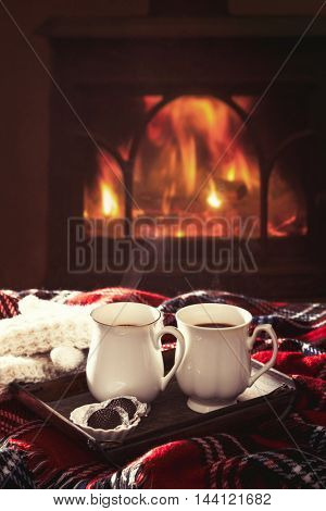 Warming drinks by the fireside