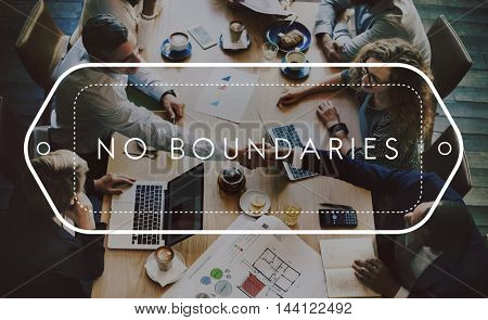 No Boundaries Adventure Explore Freedom Free Concept