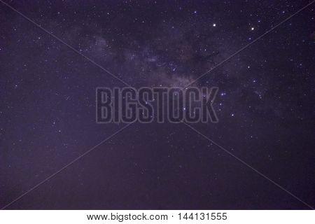 milkyway on clear night sky before sunlight