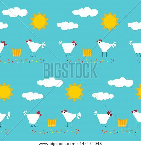Abstract Childish Geometric Seamless Pattern Background.