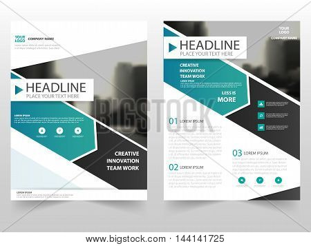 Green black business Brochure Leaflet Flyer annual report template design book cover layout design abstract business presentation template a4 size design