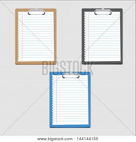 Clipboard blank on notepaper. can used for iconinforaphic and design.illustration concept