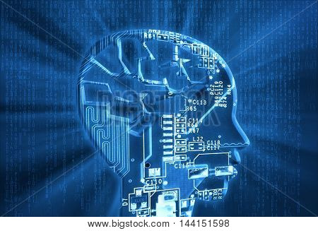 Electronic Circuit and Electronic Brain high quality and high resolution computer graphics