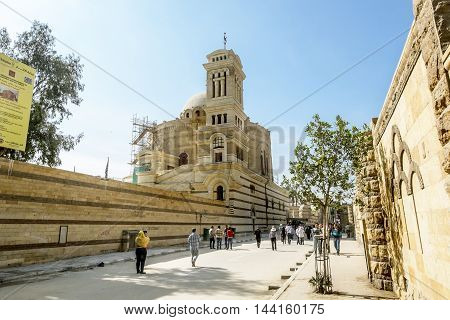 12 april 2014.Cairo .Temple of the Holy great martyr George the victorious in Cairo .Egipt