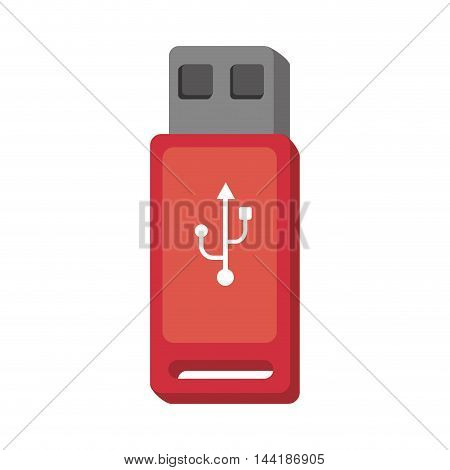 usb flash disk electronic and technology device vector illustration