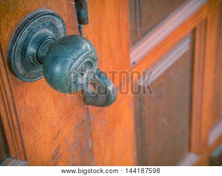 Doorknob is very old , for front door.