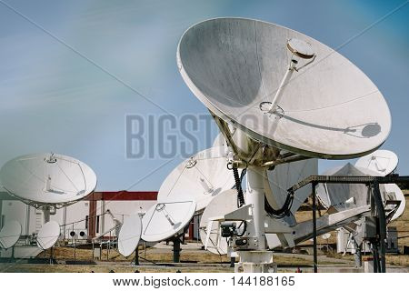Array Of Satellite Dishes