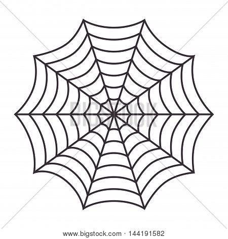 cobweb arachnid spider web halloween season vector illustration