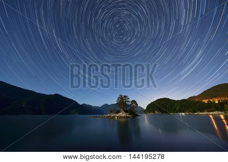 Star Trails Over Furry Creek