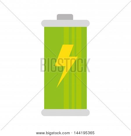 battery complete charging power electricity charge bolt vector illustration