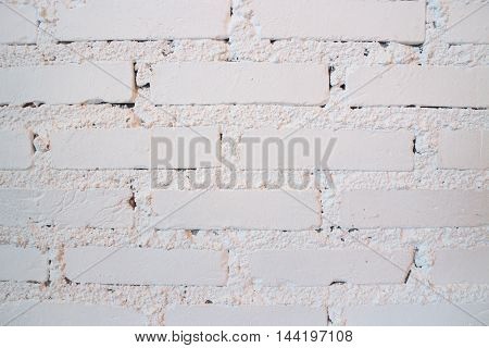 Old brick wall white color cover stock photo