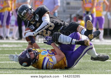 VIENNA, AUSTRIA - MAY 10, 2015:  in a game of the Division I of the Austrian Football League.