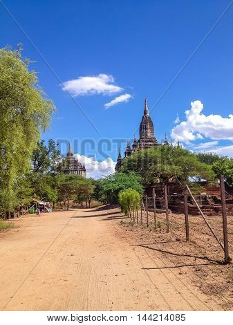 Acient Temple and pagoda in Bagan Myanmar