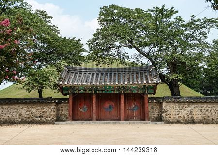 Gyeongju South Korea - August 16 2016: Tomb of king Michu Gyeongju. UNESCO (WHC for short) in 1972