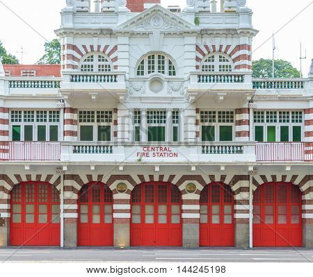Central fire station in Singapore